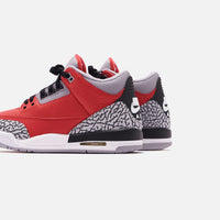 Nike Grade School Air Jordan 3 Retro SE - Varsity Red / Cement Grey / Black Thumbnail 1