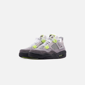 Nike Grade School Air Jordan 4 Retro LE - Cool Grey / Volt / Wolf Grey / Anthracite Image 3