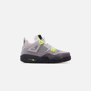 Nike Grade School Air Jordan 4 Retro LE - Cool Grey / Volt / Wolf Grey / Anthracite Image 1