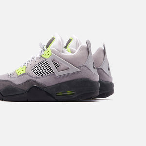 Nike Grade School Air Jordan 4 Retro LE - Cool Grey / Volt / Wolf Grey / Anthracite Image 5