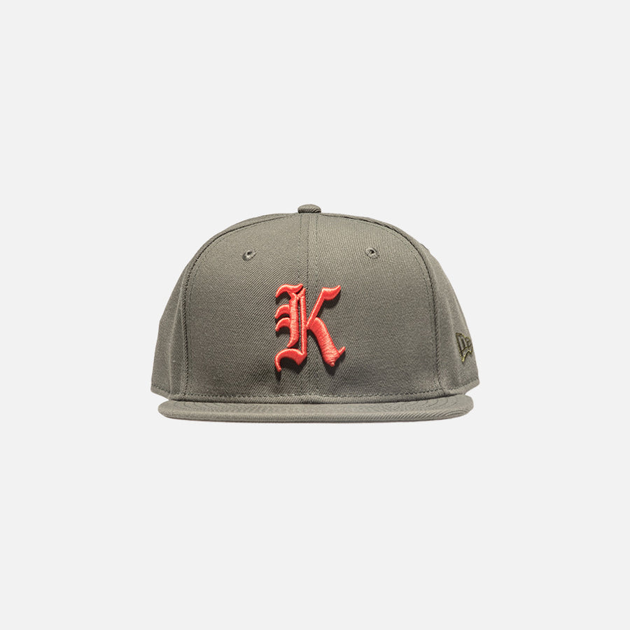 Kith x New Era Gothic 59Fifty Cap - Olive / Orange