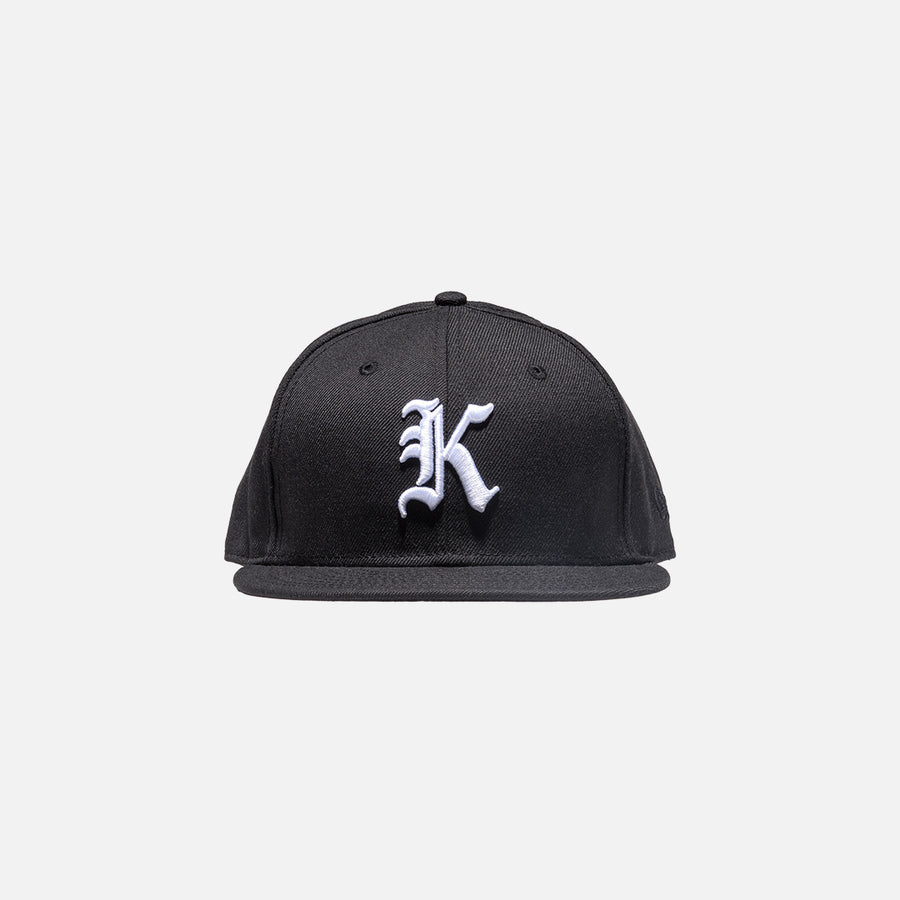 Kith x New Era Gothic 59Fifty Cap - Black / White