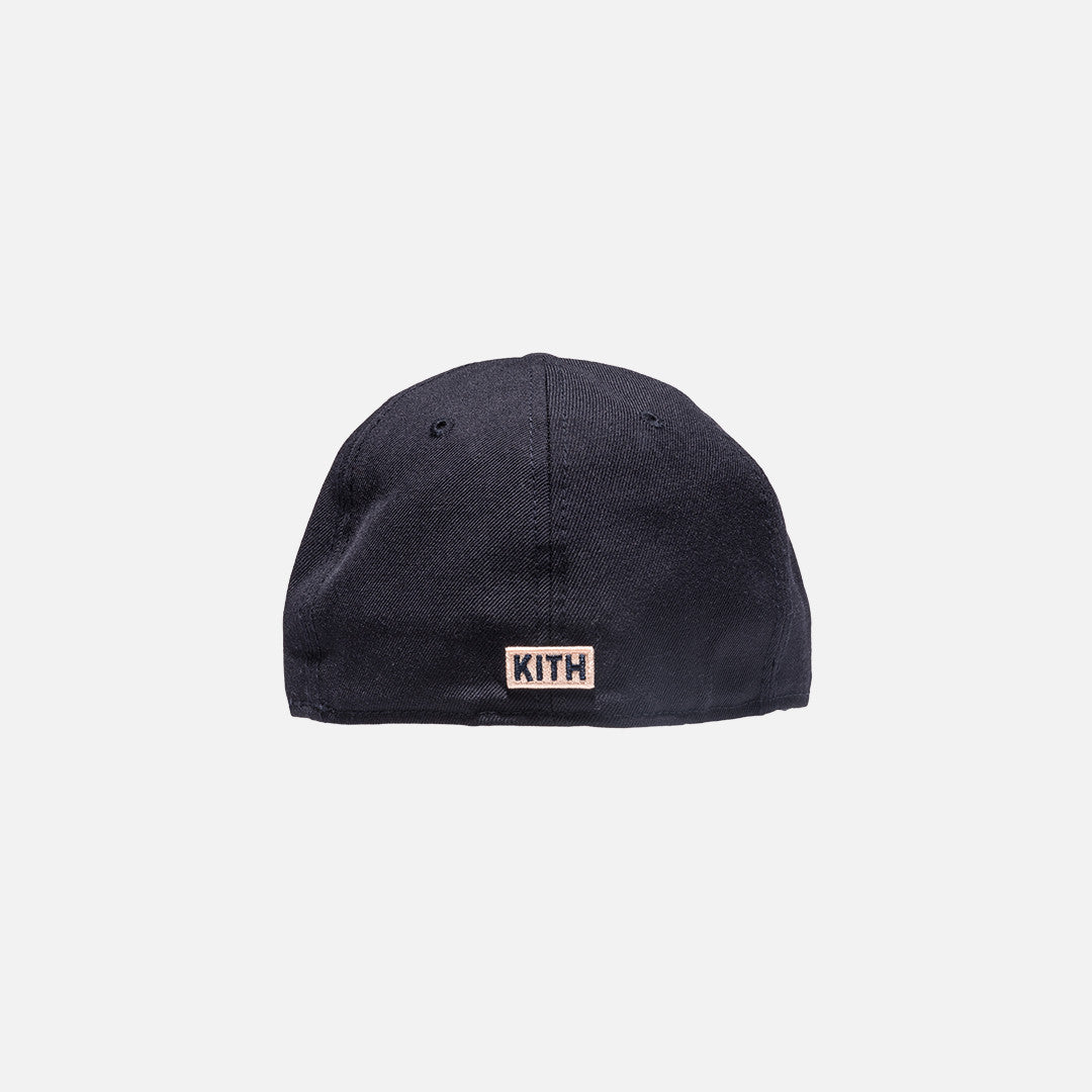 Kith x New Era Gothic 59Fifty Cap - Navy / Salmon