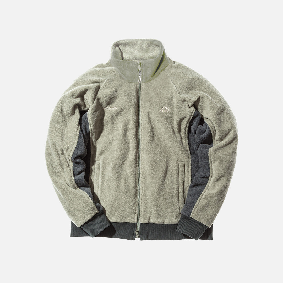 Kith x Columbia Sportswear Core Fleece Jacket - Stone Green