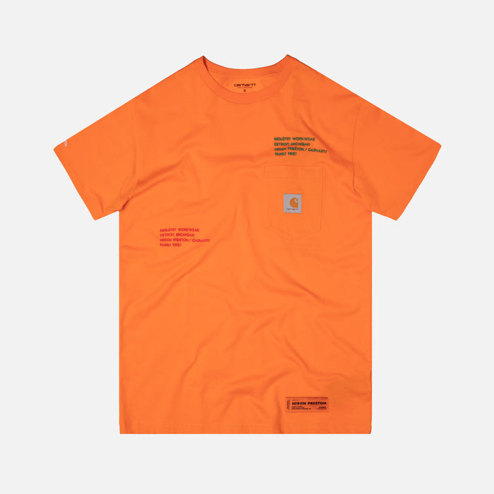 Heron Preston x Carhartt Tee - Orange