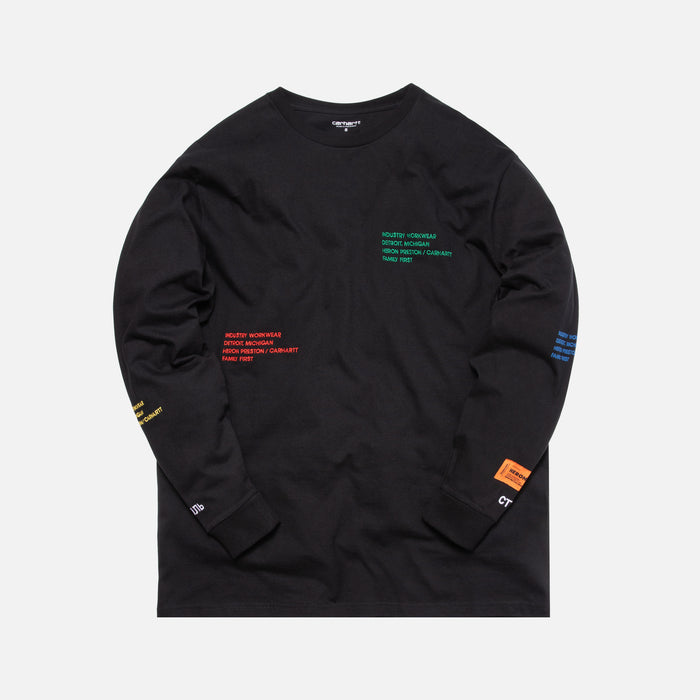 Heron Preston x Carhartt Long Sleeve Tee - Black