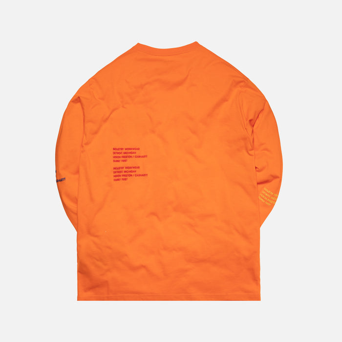 Heron Preston x Carhartt Long Sleeve Tee - Orange