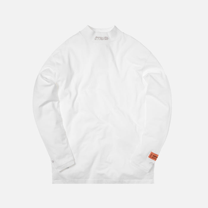 Heron Preston CTNMB Embroidered L/S Turtleneck - White