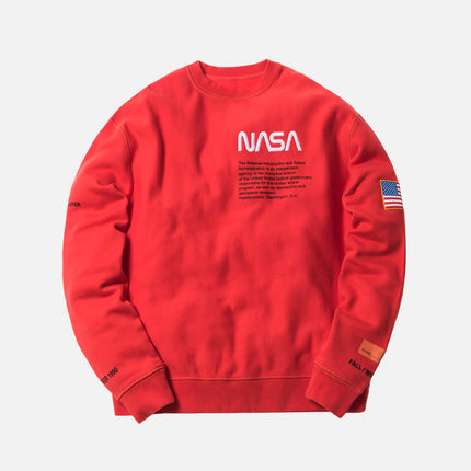 Heron Preston x NASA Crewneck - Red / Orange