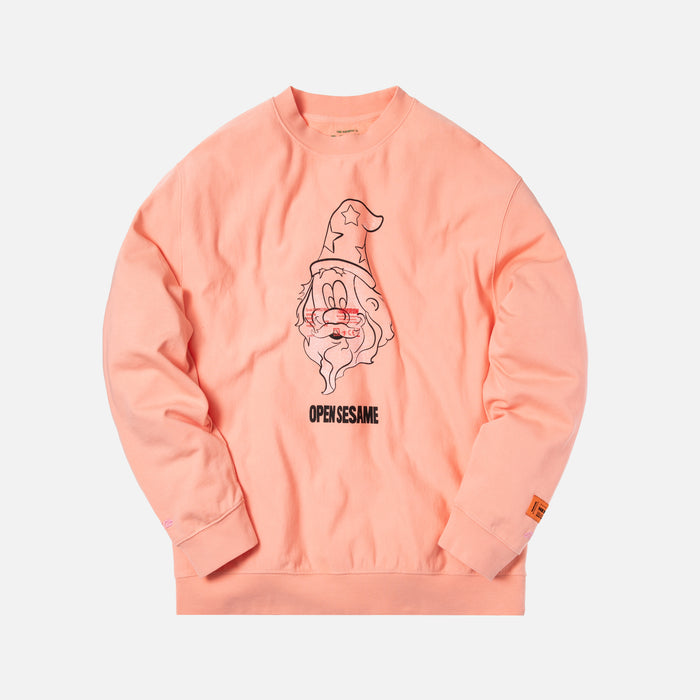Heron Preston Open Sesame Crewneck - Light Pink