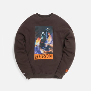 Heron Preston Crewneck OS Heron Times Onyx - Dark Orange Image 1