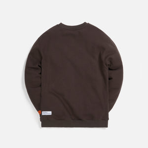 Heron Preston Crewneck OS Heron Times Onyx - Dark Orange Image 2