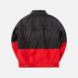 Heron Preston Denim Nylon Jacket - Black / Red