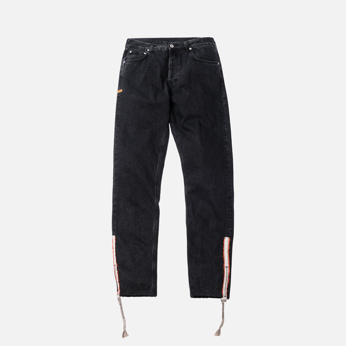 Heron Preston Parachute Denim Pant - Black