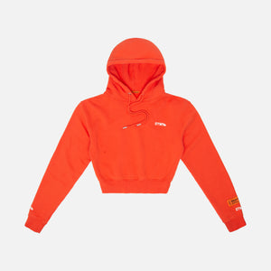 Heron Preston WMNS Cropped Hoodie - Fire Coral Red