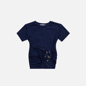 Hyein Seo Som Shirring Top - Navy