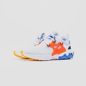 Nike React Presto - White / Habanero Red / Obsidian / Pacific Blue