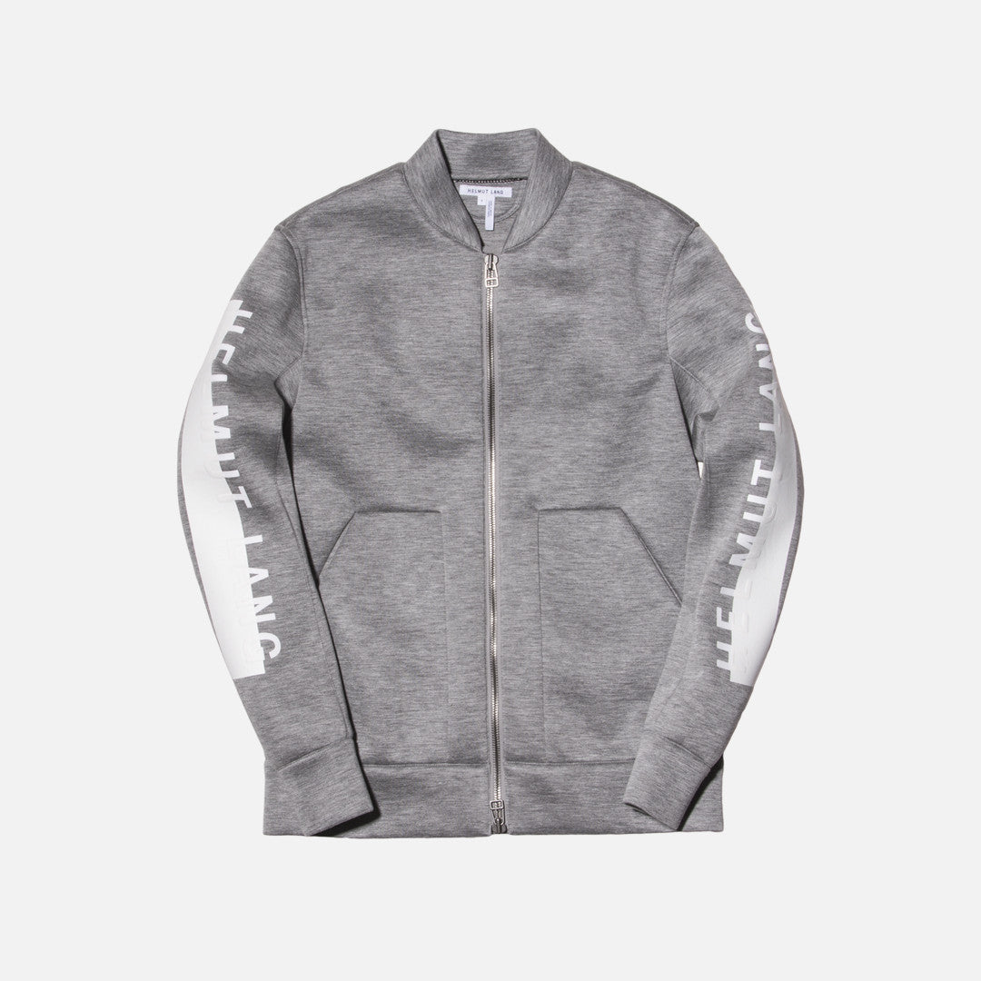 Helmut Lang Logo Bomber Jacket - Heather Grey