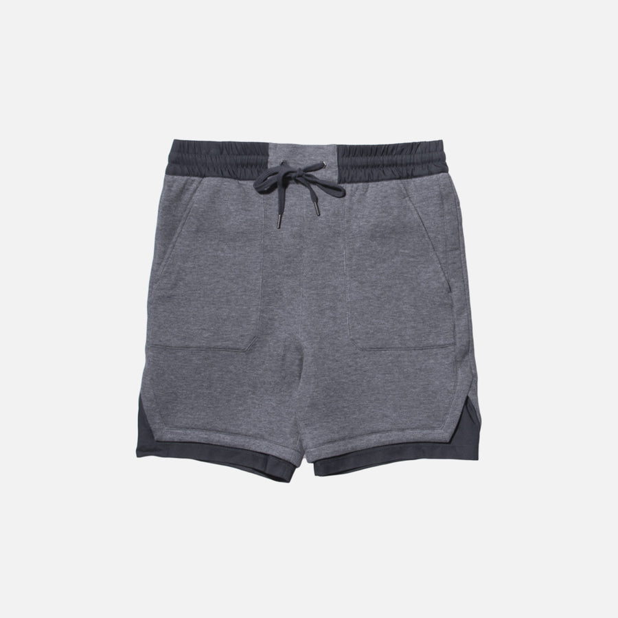 Helmut Lang Angled Hem Track Short - Heather Grey