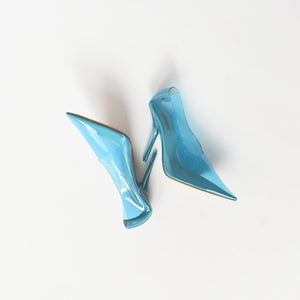 Yeezy WMNS Pump In PVC 110MM Heel - Hospital Blue