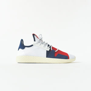 a82c0a622 adidas Consortium x Pharrell Williams BBC Hu Tennis - White   Scarlet    Dark Blue