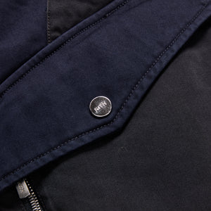 Kith Colorblocked Sateen Bomber - Navy Image 3