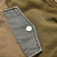 Kith Colorblocked Sateen Bomber - Olive Thumbnail 1