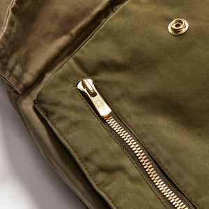 Kith Colorblocked Sateen Bomber - Olive