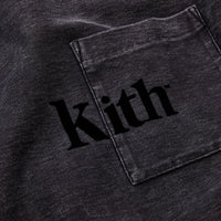 Kith Quinn Crystal Washed L/S Tee - Black Thumbnail 1