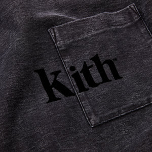 Kith Quinn Crystal Washed L/S Tee - Black Image 3