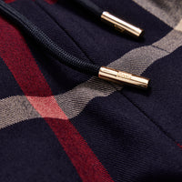 Kith for Bergdorf Goodman Roger Track Pant - Navy / Red Plaid Thumbnail 4