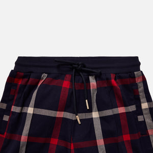 Kith for Bergdorf Goodman Roger Track Pant - Navy / Red Plaid Image 3