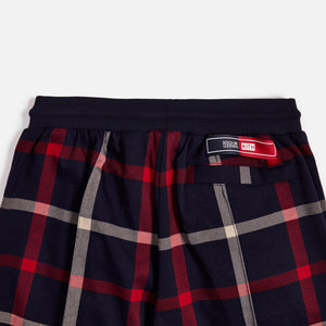 Kith for Bergdorf Goodman Roger Track Pant - Navy / Red Plaid Image 6