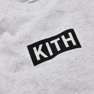 Kith Kids Baby Classic Logo Onesie - Heather Grey