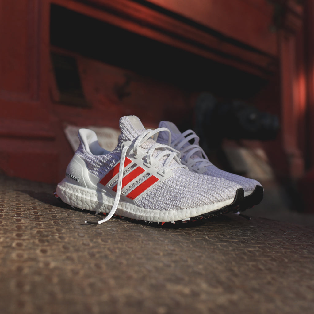 competitive price 922e5 4da59 adidas Originals UltraBoost - Chalk White   Active Red   White – Kith