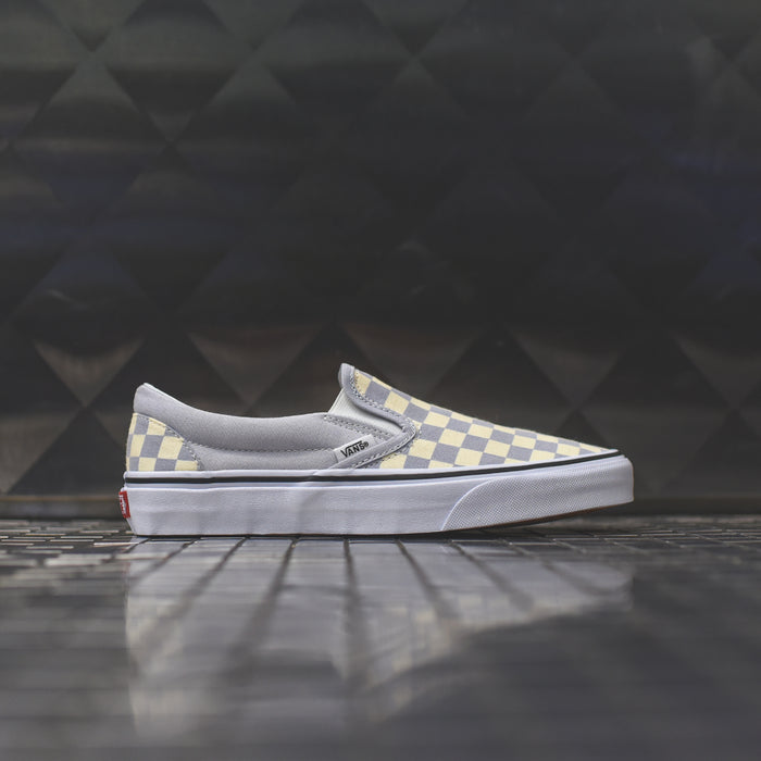 Vans WMNS Classic Slip-On Checkerboard - Gray Dawn / True White