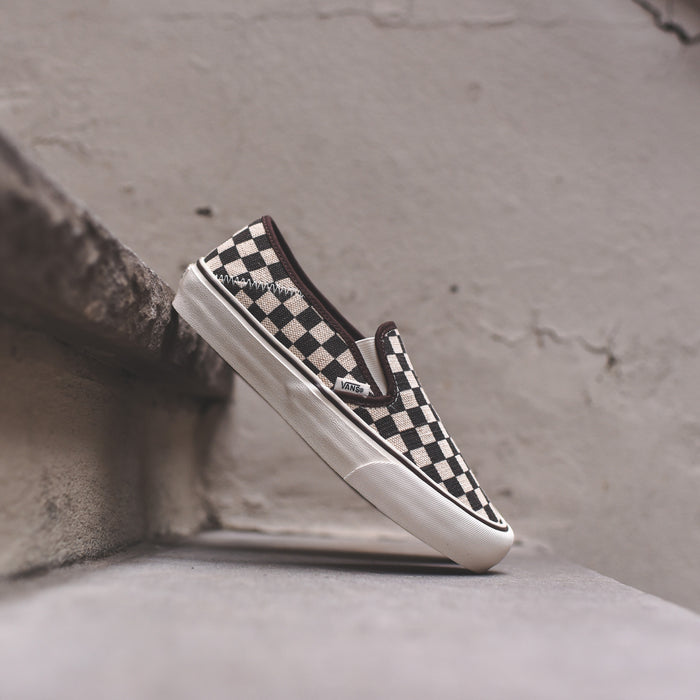 Vans Slip-On SF Distressed Check - Black / White
