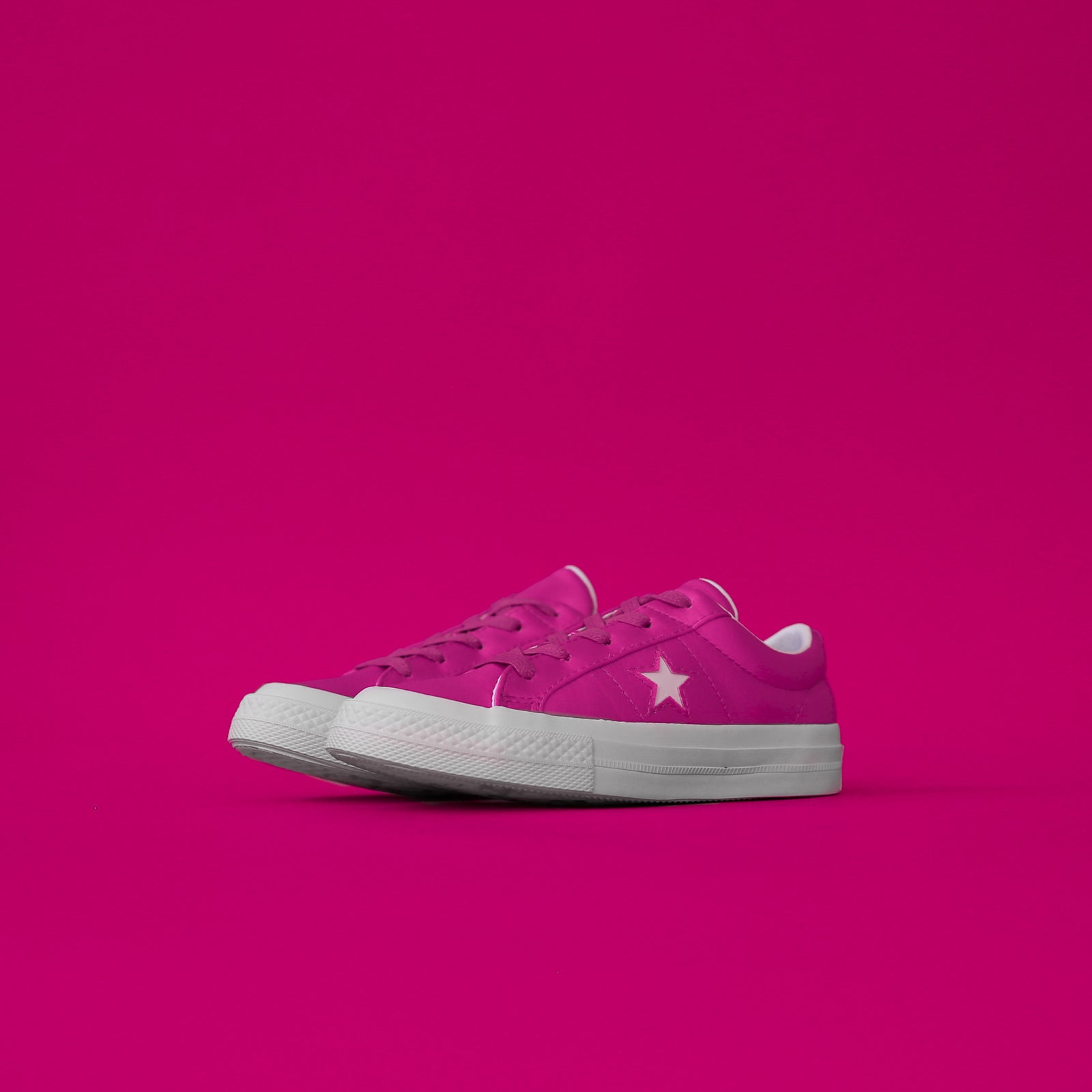 Converse Kids One Star Ox - Hyper Magenta / White