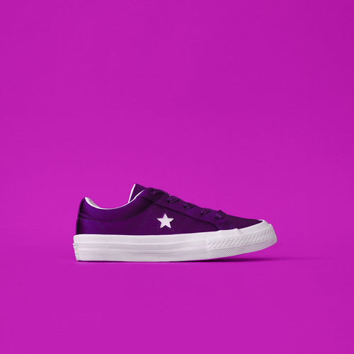 Converse Kids One Star Ox - Court Purple / White