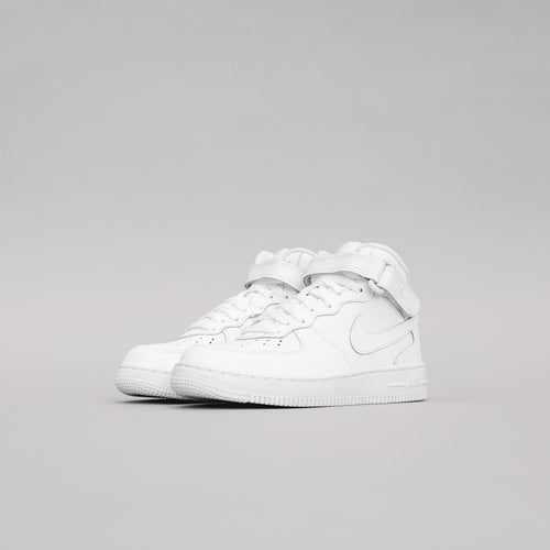 Nike Pre-School Air Force 1 - Mid White / White