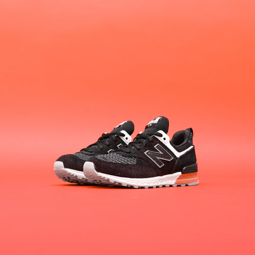 New Balance Kids KFL574CP - Black / Red / White