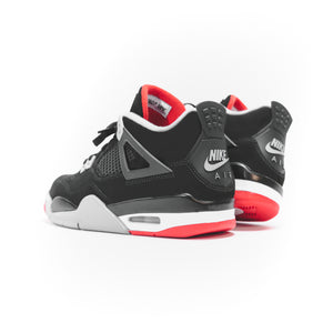 Nike GS Air Jordan 4 Retro - Black / Fire Red / Cement Grey