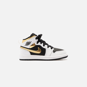 Nike BP Air Jordan 1 Mid - White / Multi Color / Black