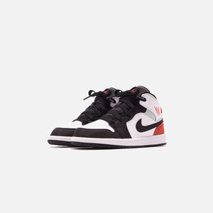 Nike Pre-School Air Jordan 1 Mid SE - White / Track Red