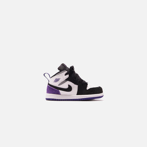 Nike BT Air Jordan 1 Mid SE - White / Court Purple / Black