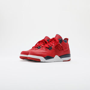 Nike PS Air Jordan 4 Retro SE - University Red / Obsidian / White / Metallic Gold