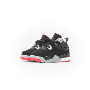 Nike PS Air Jordan 4 Retro - Black / Fire Red / Cement Grey