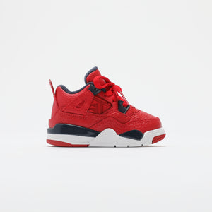 Nike TD Air Jordan 4 Retro SE - University Red / Obsidian / White / Metallic Gold