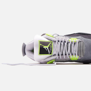 Nike Air Jordan 4 Retro LE - Cool Grey / Volt / Wolf Grey / Anthracite