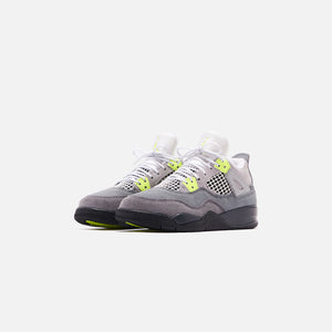 Nike Pre-School Air Jordan 4 Retro LE - Cool Grey / Volt / Wolf Grey / Anthracite